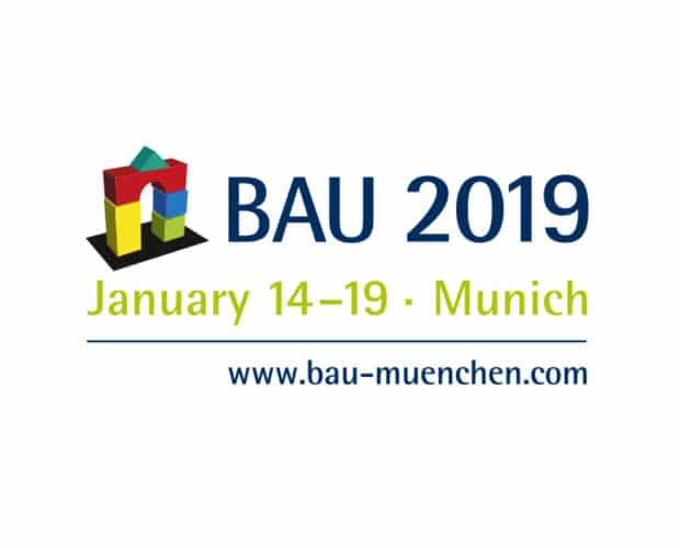 BAU 2019 en mässa fylld med material för byggnation