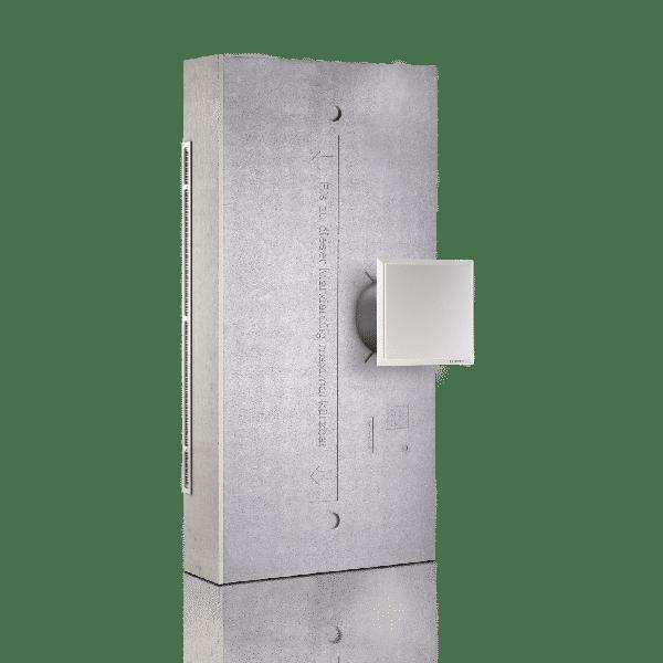 Produktbild på LUNOTherm för mer diskreta fasad ventiler