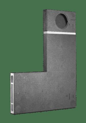 Produktbild på LUNOTherm-S för mer diskreta fasad ventiler