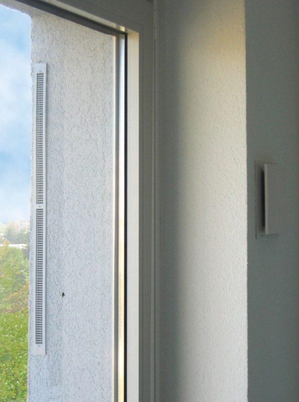 Lunotherm fasadelemet monterad, dold ventilationskanal